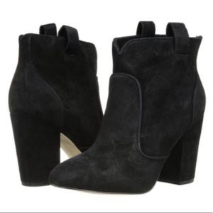 French Connection Black Suede Booties